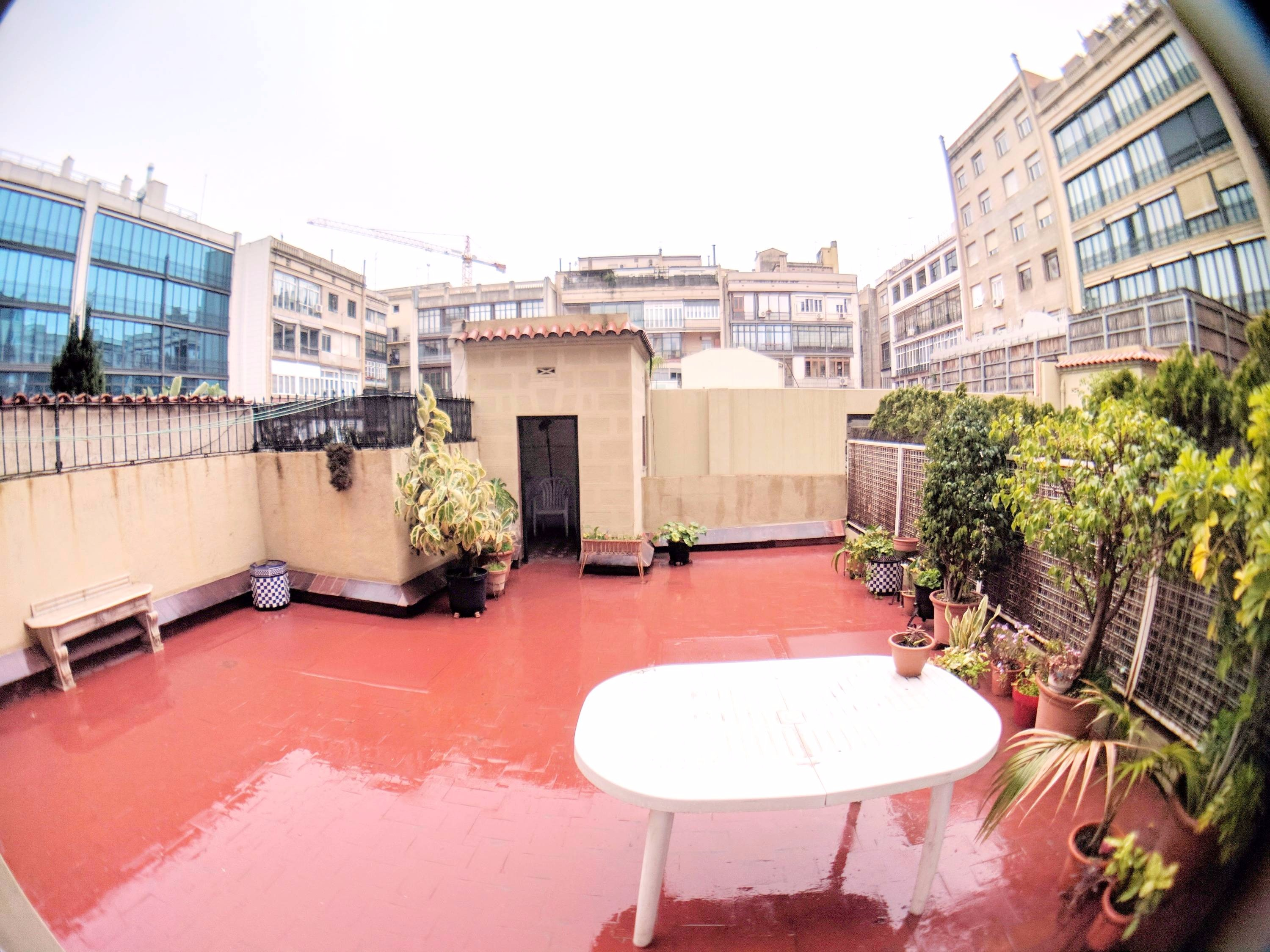 Flat for Sale with Terrace in the Center of Barcelona.